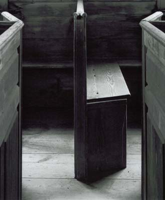 107A: Pew Bench, Rocky Hill Meetinghouse