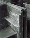107H: Pew Railing and Hinge, Rocky Hill Meetinghouse