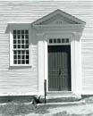 Door and Window, Sandown Meetinghouse, Sandown, NH