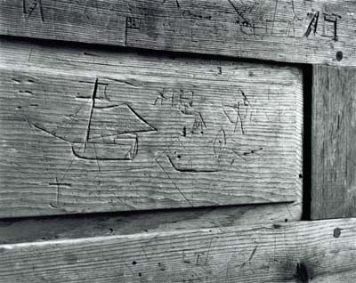 Graffiti, Single Men's Balcony, Rocky Hill Meetinghouse, Amesbury, MA
