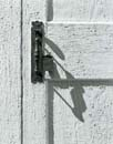 Door Handle and Shadow, Danville Meetinghouse, Danville, NH