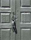 Door Handle and Shadow, Sandown Meetinghouse, Sandown, NH