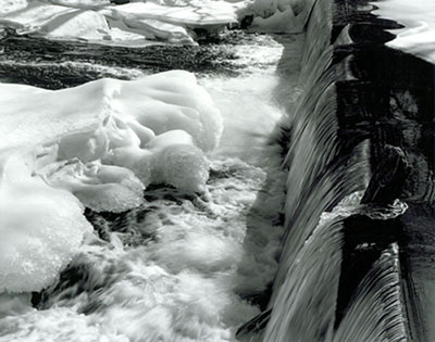 Ice and Waterfall, Exeter River, Exeter, NH